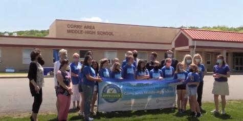 Corry Blue Zone ribbon cutting ceremony